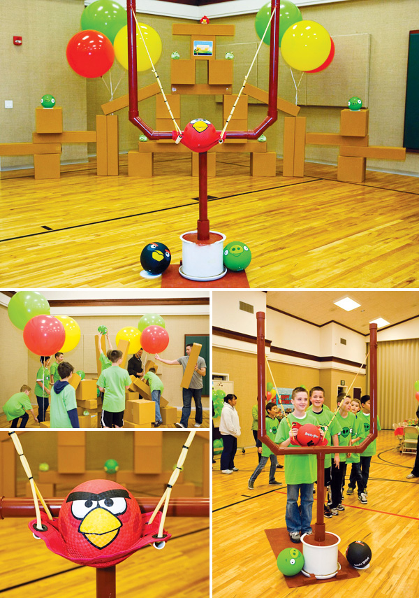 Now launching an angry bird day celebration angry birds inspired pig bowling this diy game is not only inexpensive but also easy using a variety of craft punches scissors i put together some pig faces using solutioingenieria Gallery