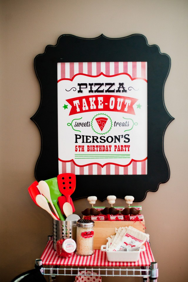 pizza printable sign