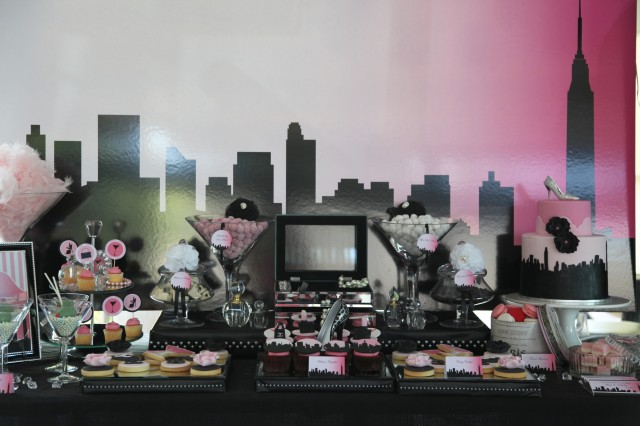 Sex and the city dessert table