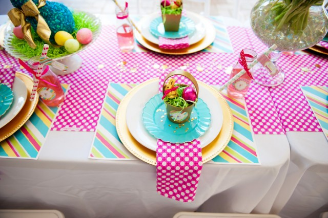 easter party table settings