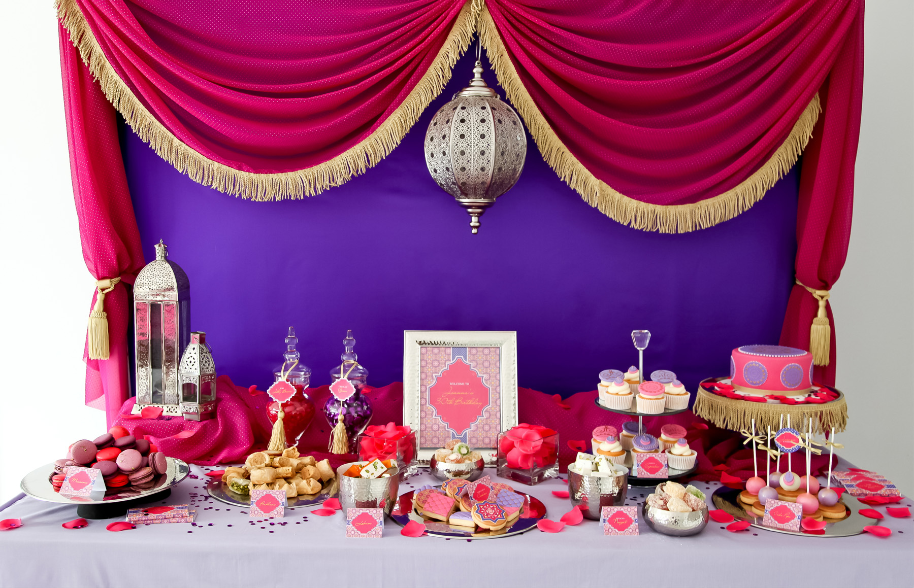 A Stunning Moroccan Birthday Party - Anders Ruff Custom Designs, LLC