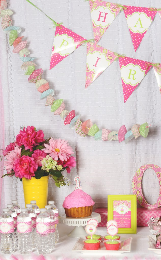 cupcake party banner