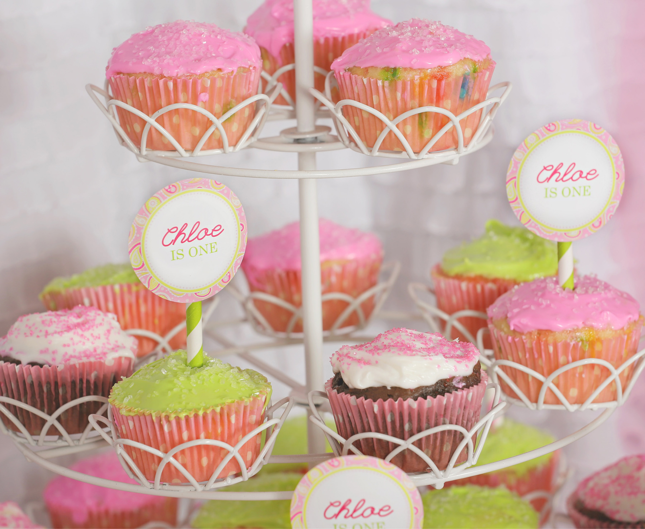 Images Of Party Cupcake : A Cupcake Themed 1st Birthday party with Paisley and Polka ...
