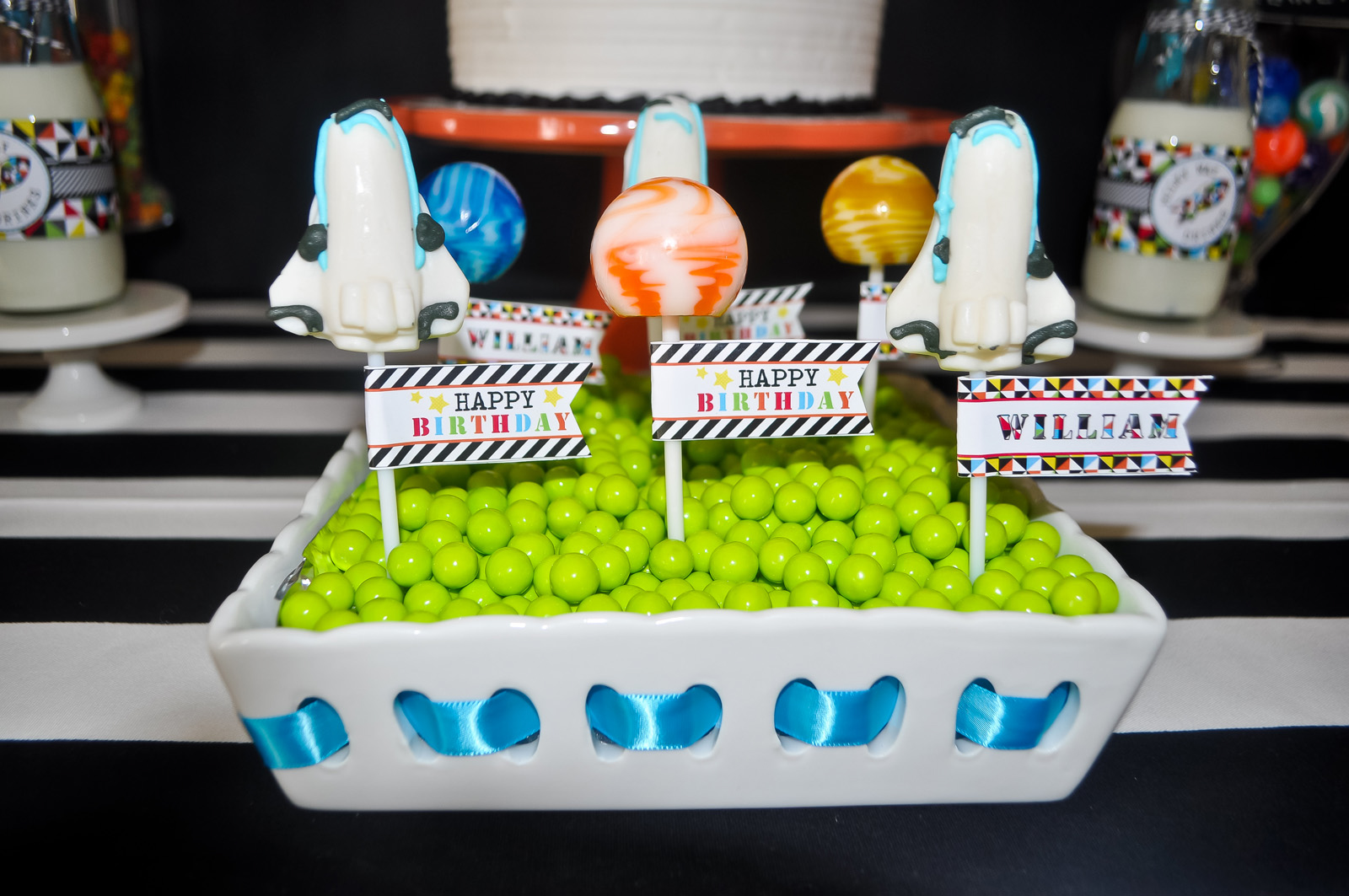 A Modern Space Rocket Ship Birthday Party