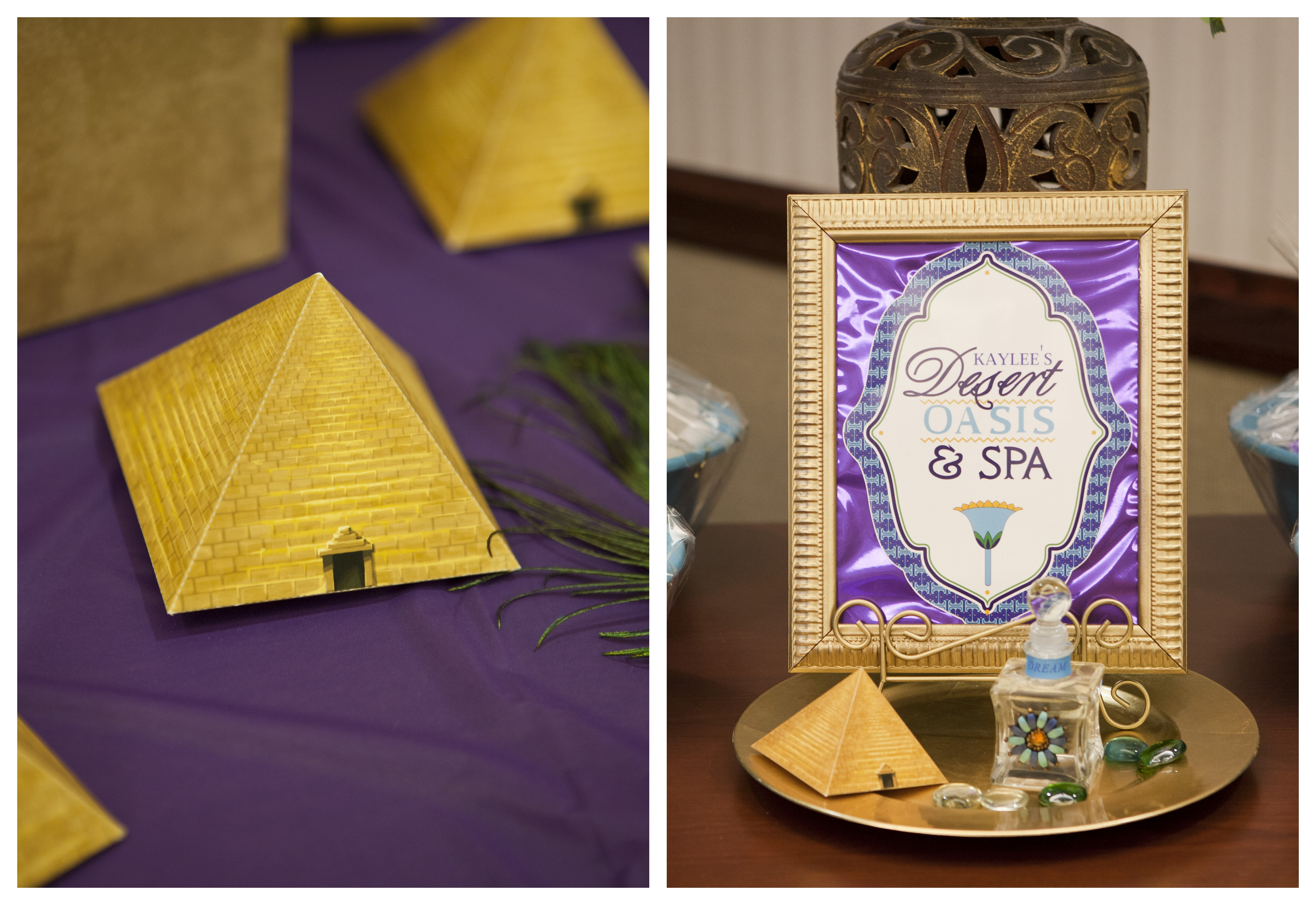 Gold Pyramid Favor Boxes : A gorgeous quot jewel of the nile egyptian spa party anders