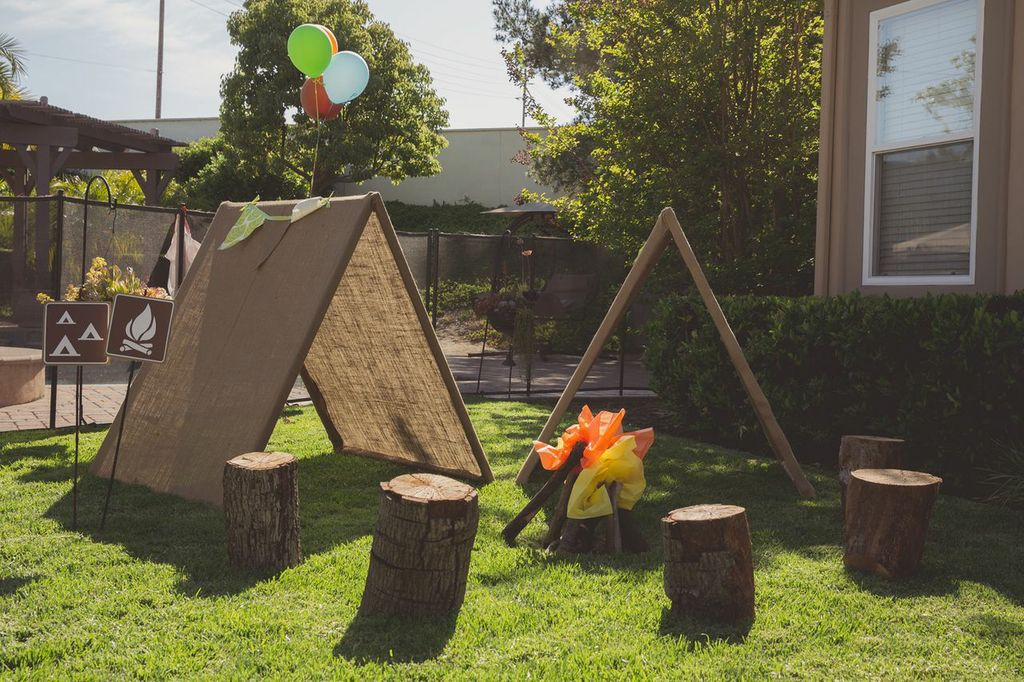 Camping In The Backyard Highlights : camping and celebrated kellen s first birthday camp kellen style