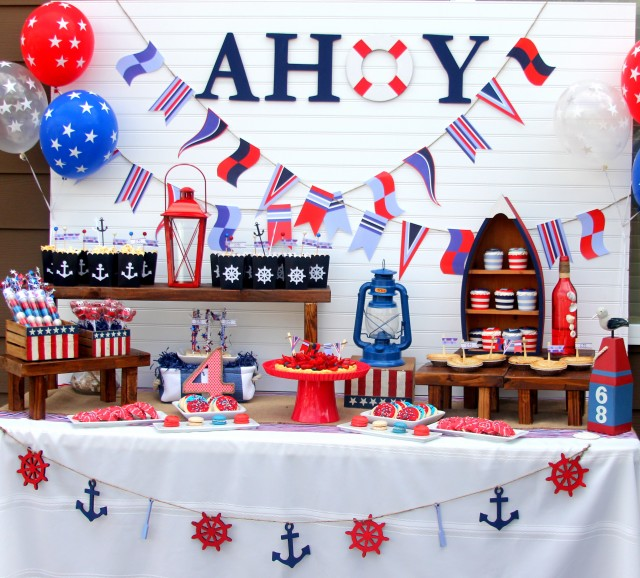ahoy a nautical backyard summer bash great 4th of july ideas anders ruff custom designs llc. Black Bedroom Furniture Sets. Home Design Ideas