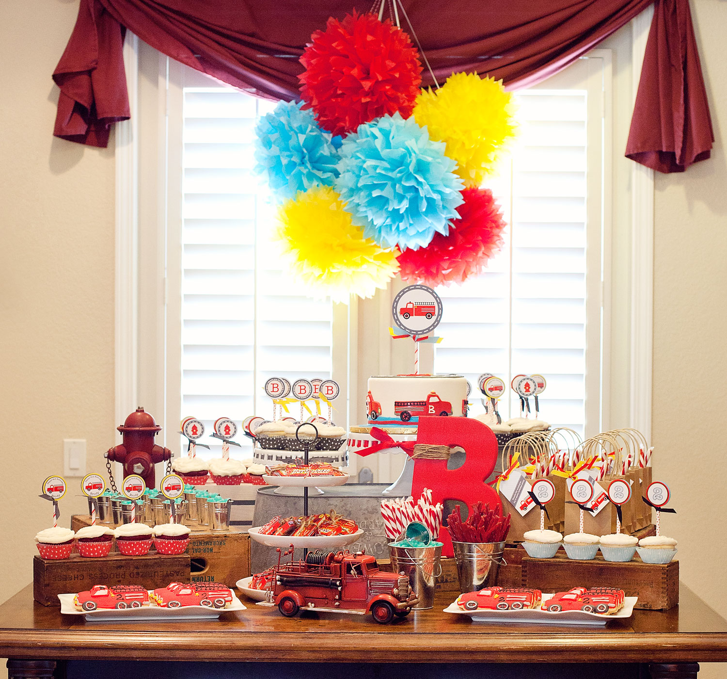 A Vintage Firetruck Birthday Party