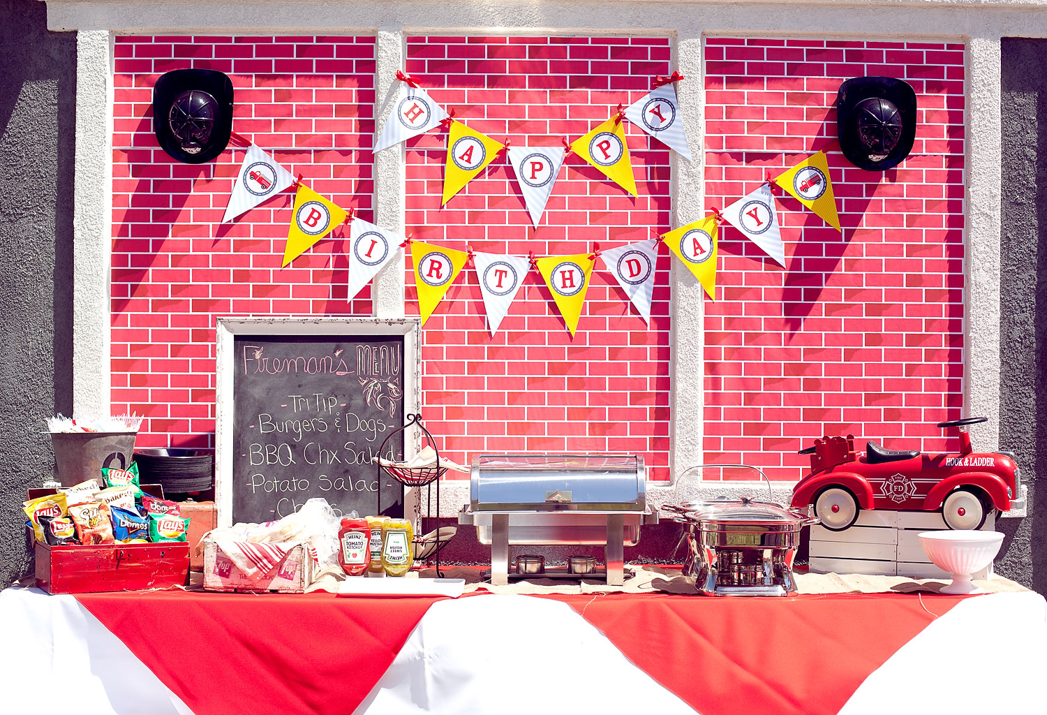 Firetruck Party Decorations