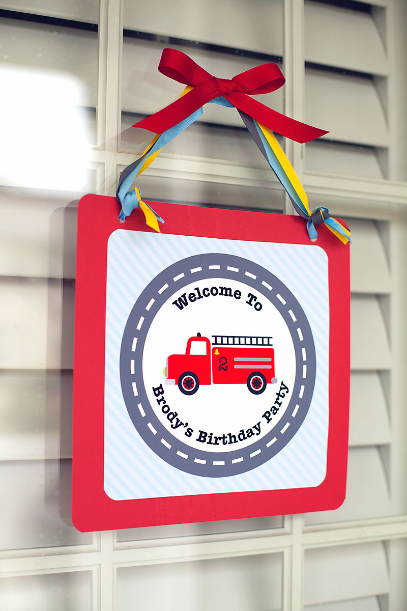 A Vintage Firetruck Birthday Party - Anders Ruff Custom ...