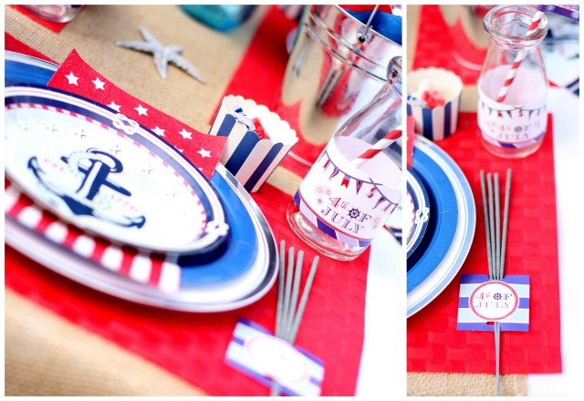 nautical place setting details