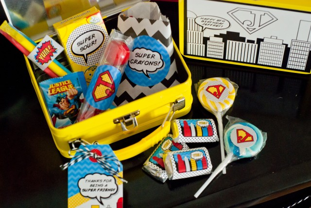 super hero birthday party favors