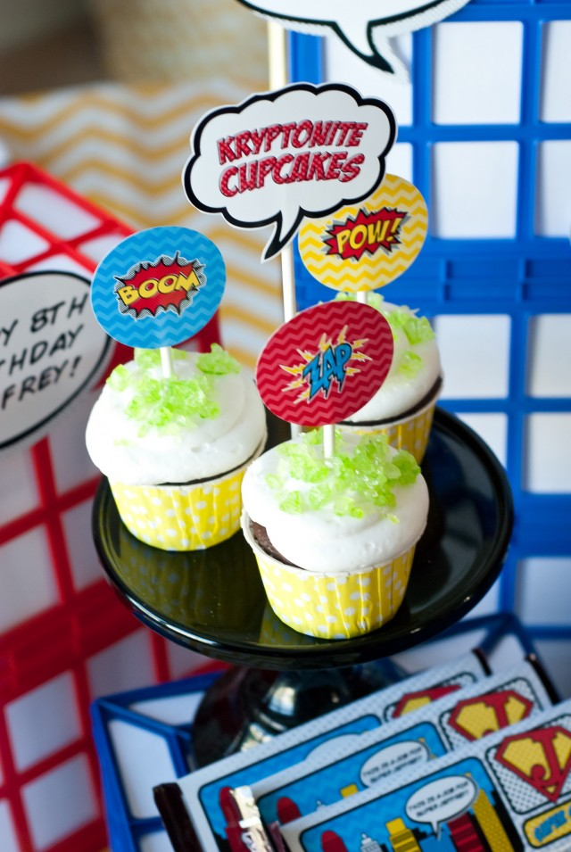 kryptonite cupcakes