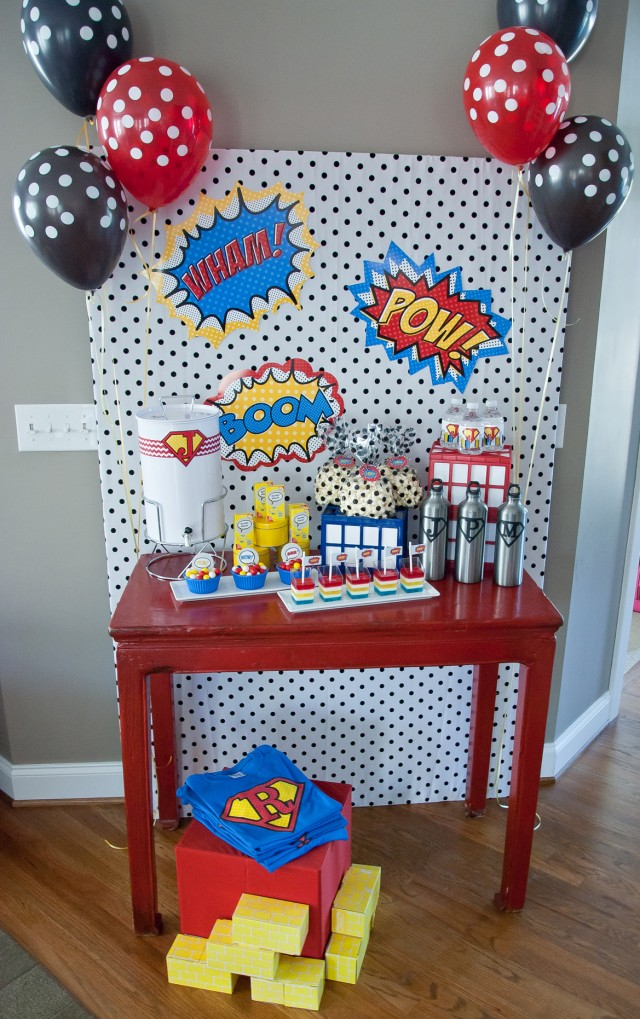 super hero party favors