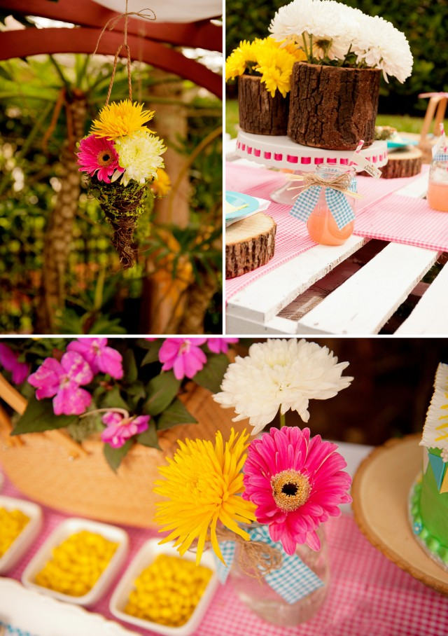 teddy bear picnic flowers