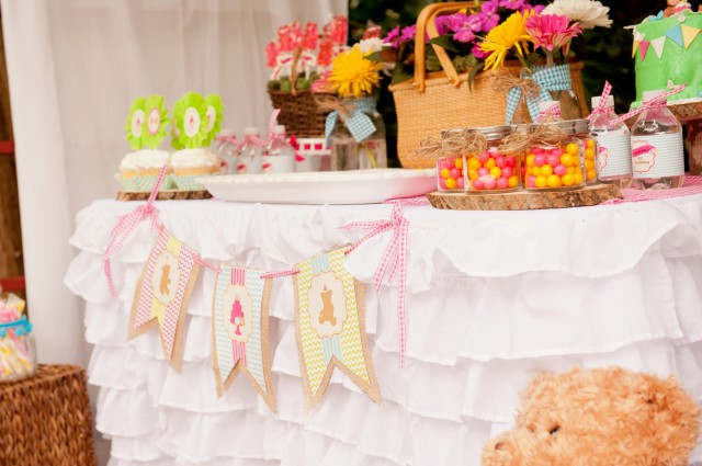 teddy bear picnic printable banner