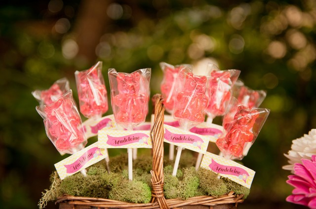 teddy bear party lollipops