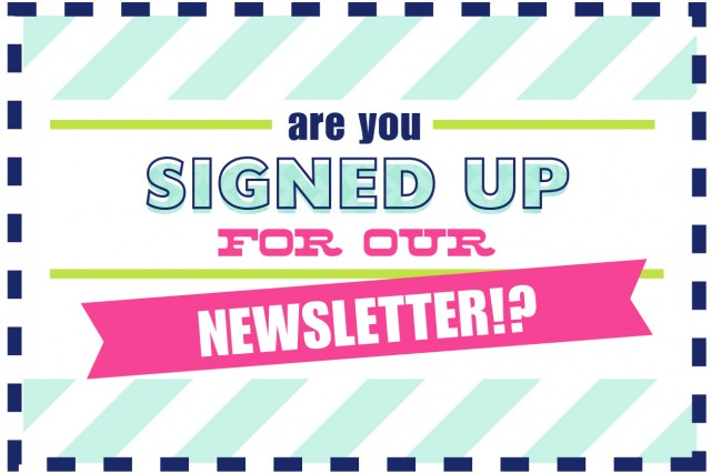 Coupon newsletter sign up