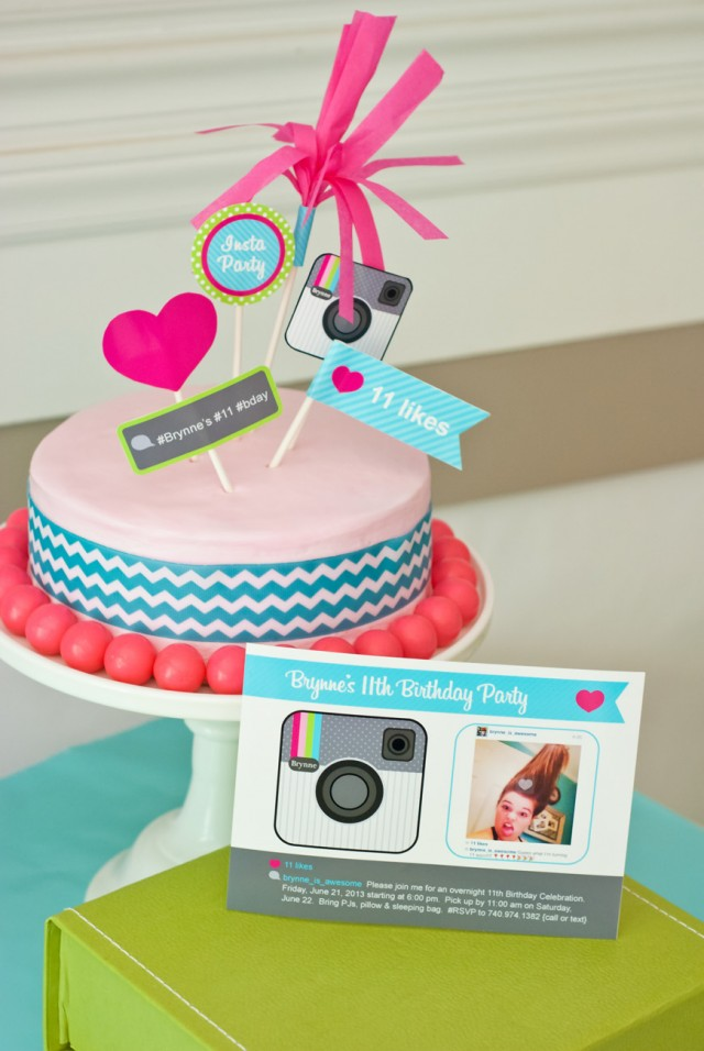 instagram birthday party invitation