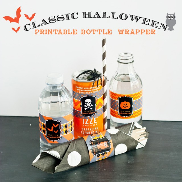 halloween printable bottle wrap