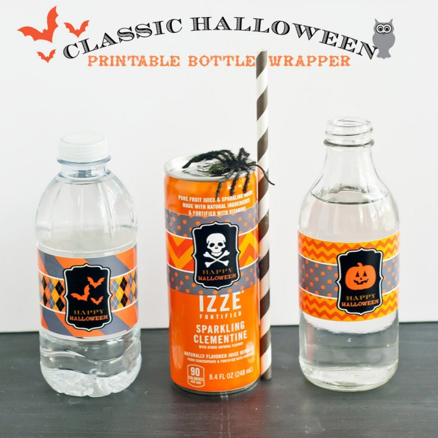 halloween water bottle wrapper