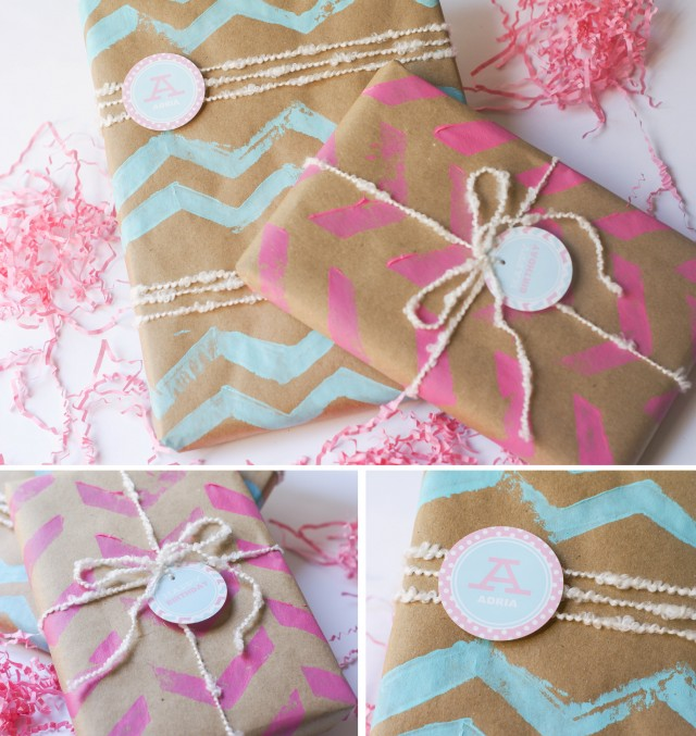 Ruff Draft: DIY Chevron Wrapping Paper And Chevron Stamp
