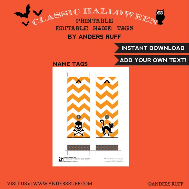 printable halloween editable name tags - Halloween Name Ideas