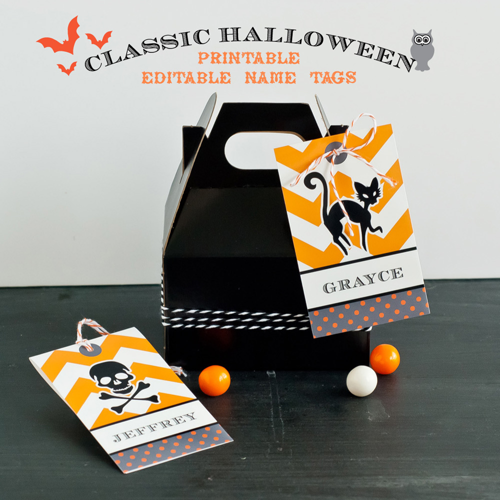 Name Tag Design Ideas heres a quick vector name tag see more of my work at doubleplusphotowordpresscom thanks for all of the great tuts Halloween Treat Bag Tags