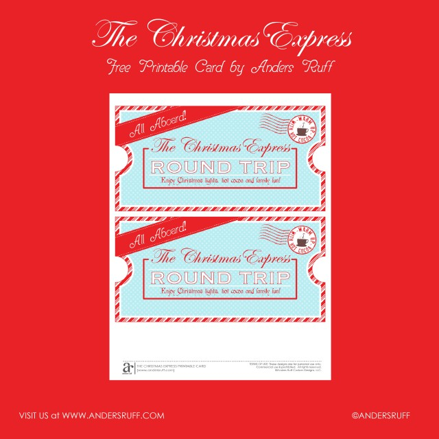 ... PRINTABLE Christmas Express Ticket - Anders Ruff Custom Designs, LLC