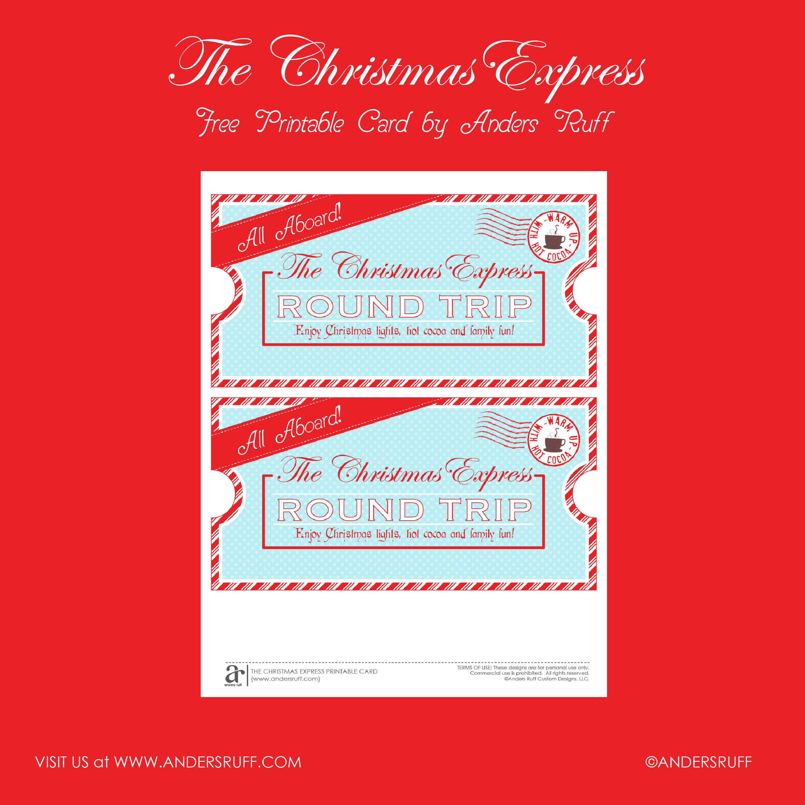 Christmas Party Ticket Template Free: Ruff Draft: FREE PRINTABLE Christmas Express Ticket