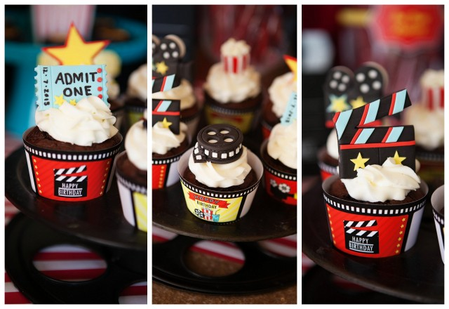 movie cupcake toppers