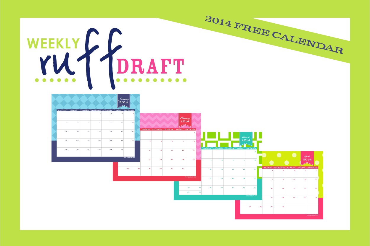Free printable calendar 2014 by anders ruff custom designs for 2104 calendar template