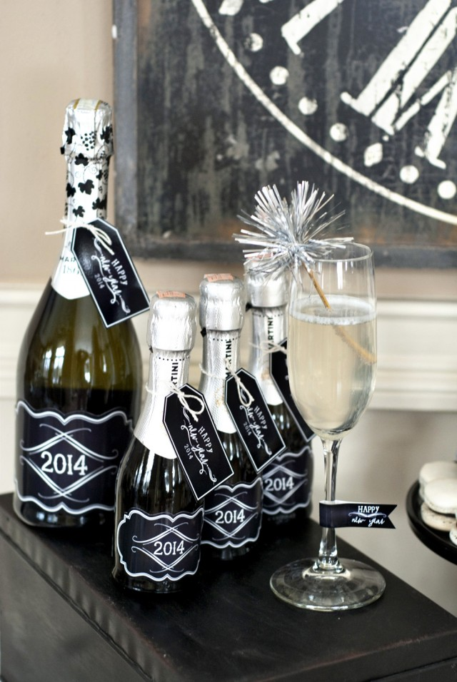 champagne bottle labels