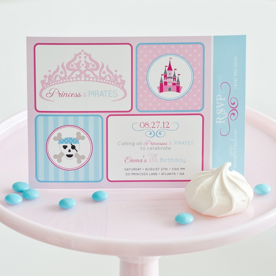 Girl Birthday Party Themes Party Ideas for Girls Anders Ruff – Princess and Pirates Party Invitations
