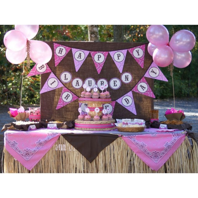 western cowgirl birthday party printables-950x950