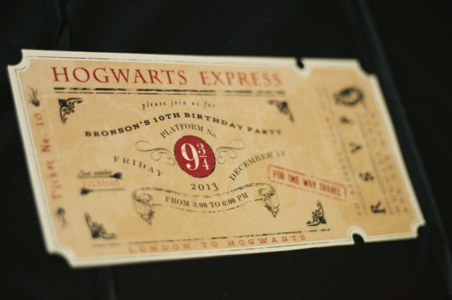 Harry Potter Party Invitations could be nice ideas for your invitation template