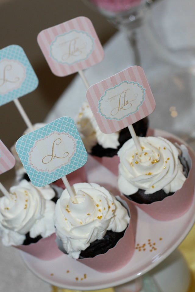 Cupcake Christening Design : A Shabby Chic Baptism - Anders Ruff Custom Designs, LLC