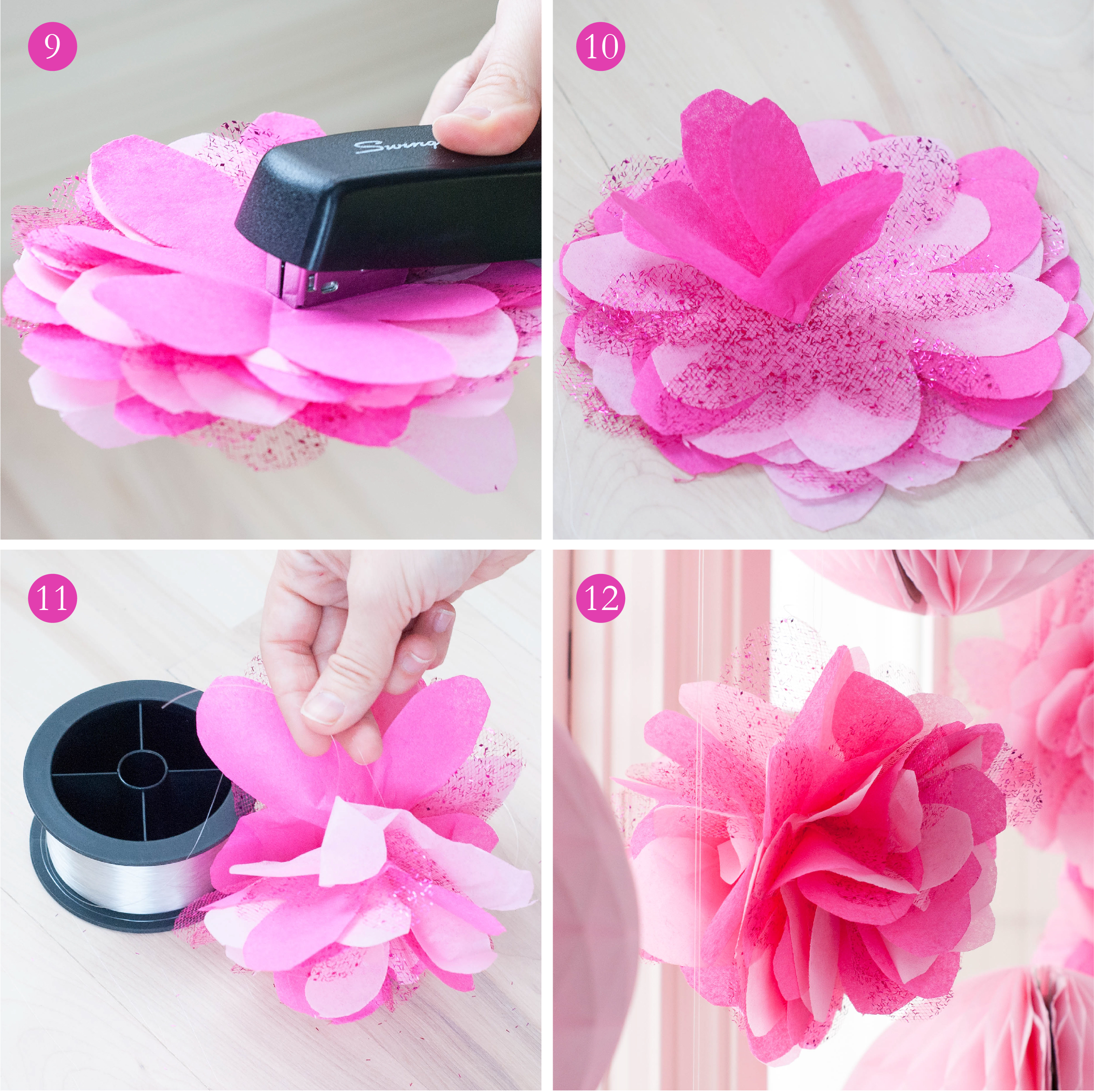 Crepe Paper Flower Ball Diy Tutorial How To Make Paper Flower Balls