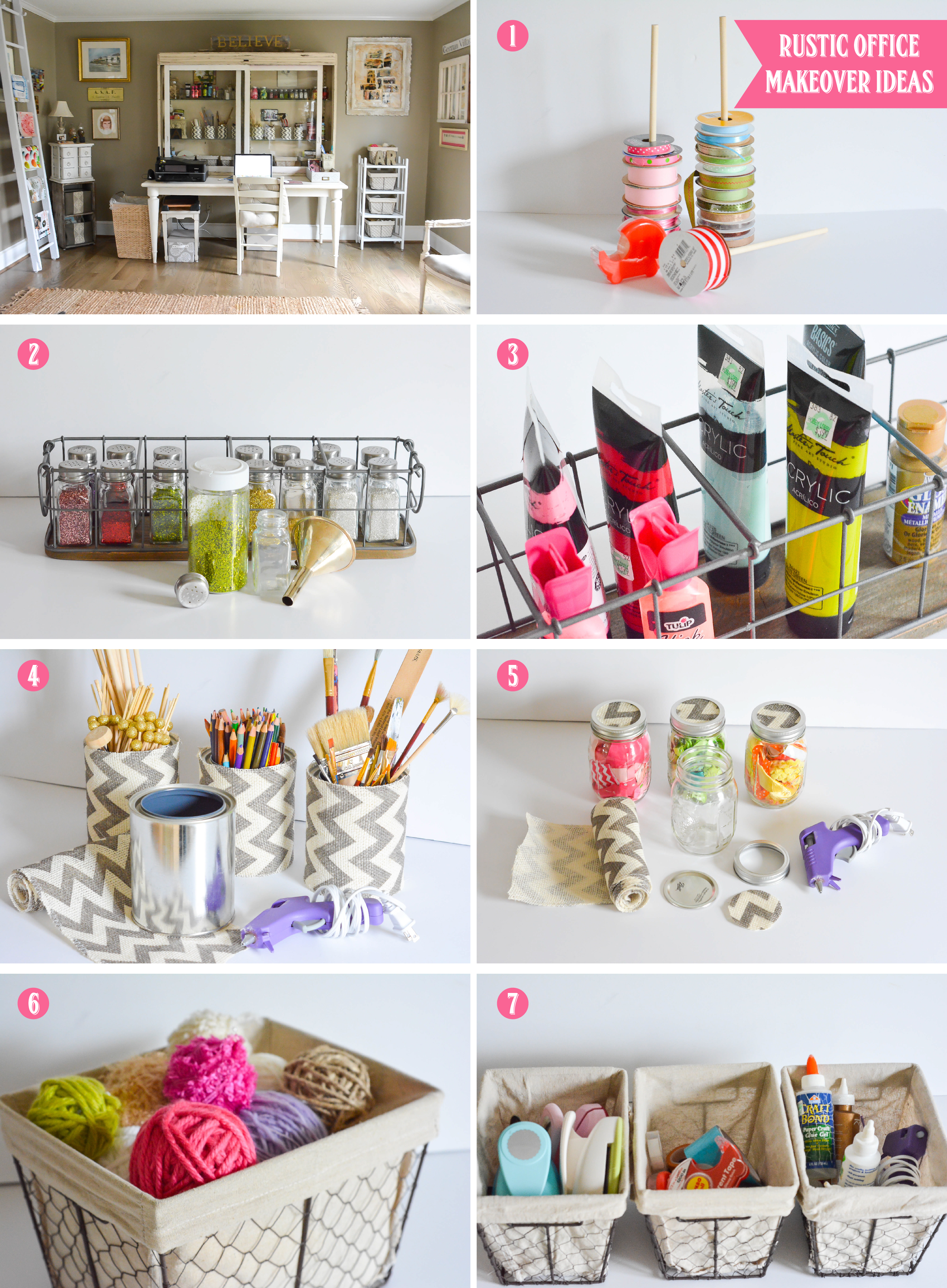 How To Organize Your Office ruff draft: spring cleaning - organize your office with a rustic