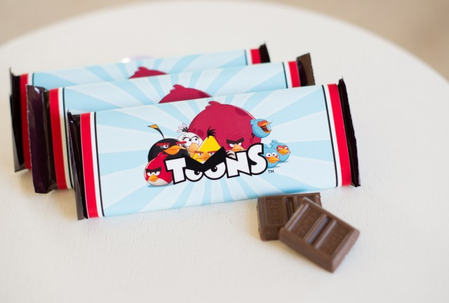 angry birds chocolates