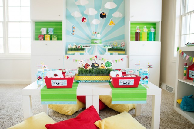 angry birds party seating