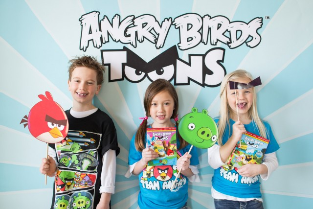 angry birds photo booth