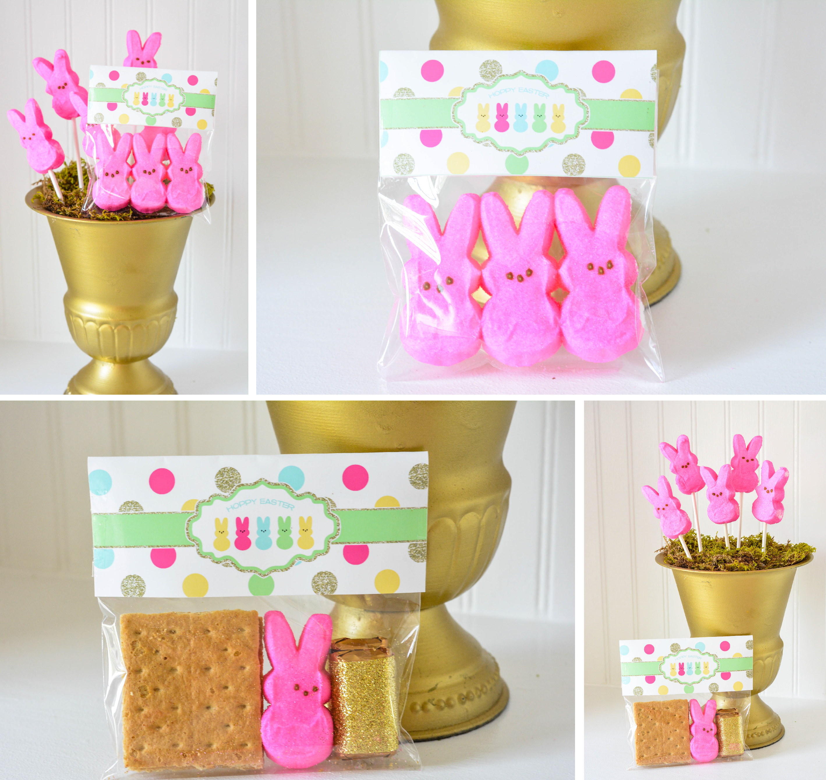 Find the printable Easter Peeps S'mores Bag toppers in the ...