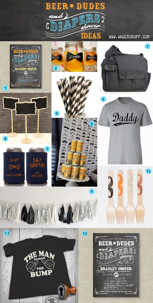 Beer Dudes and Diapers Party or Man Shower ideas for showering the daddy to be!