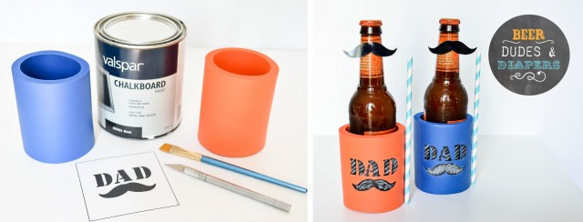 DIY beer coozies for dads