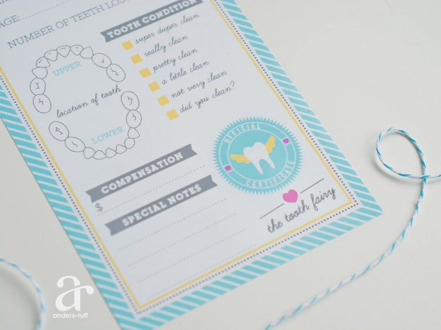 Printable tooth fairy letter and report anders ruff custom tooth fairy printable spiritdancerdesigns Choice Image