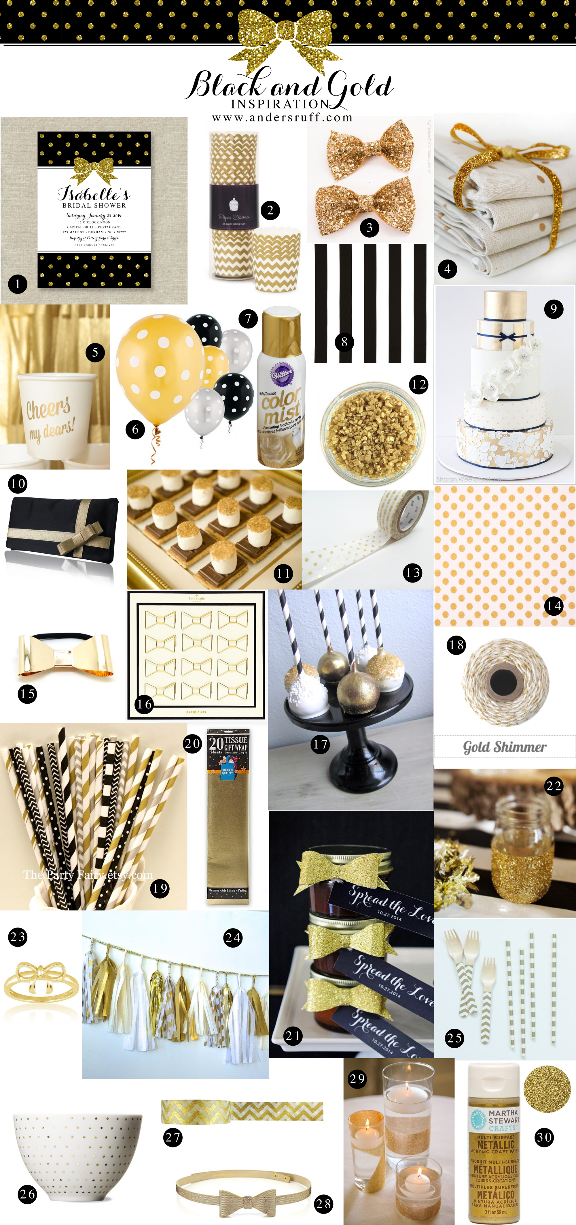 Black and gold archives anders ruff custom designs llc for Gold party