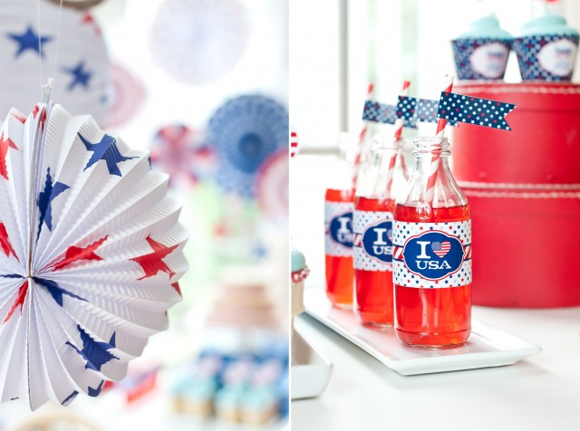 fourth of july water bottle wrappers