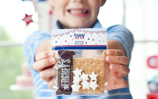 Instantly Print THESE 4th of July S'MORES BAG TOPPERS