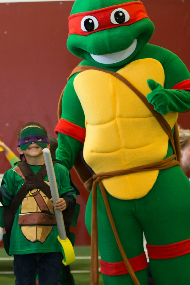 Photo with Ninja Turtle